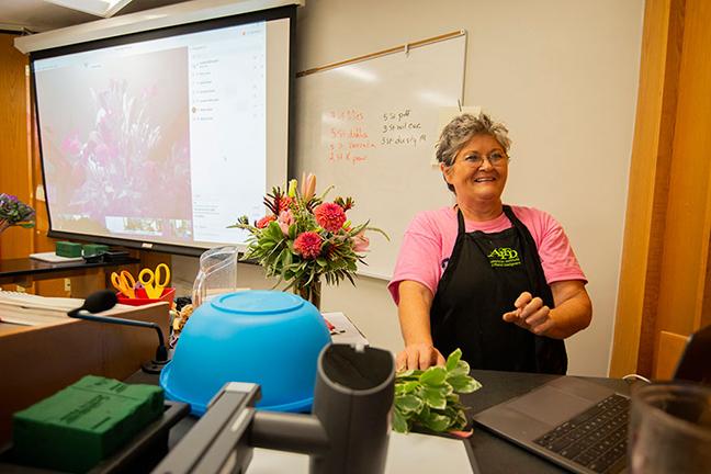 Lynette McDougald, floral management instructor