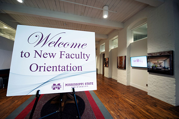 Welcome to New Faculty Orientation sign